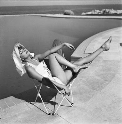 Audrey Hepburn at the beach