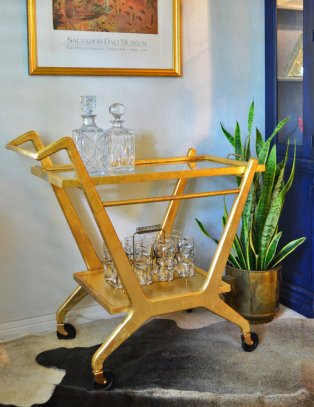 Modern Glam bar cart