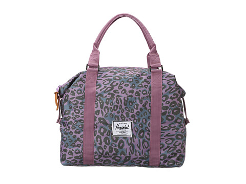 Hershel purple leopard gym bag