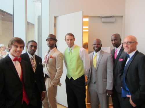 Men at #CLTFashionWK Bridal Event