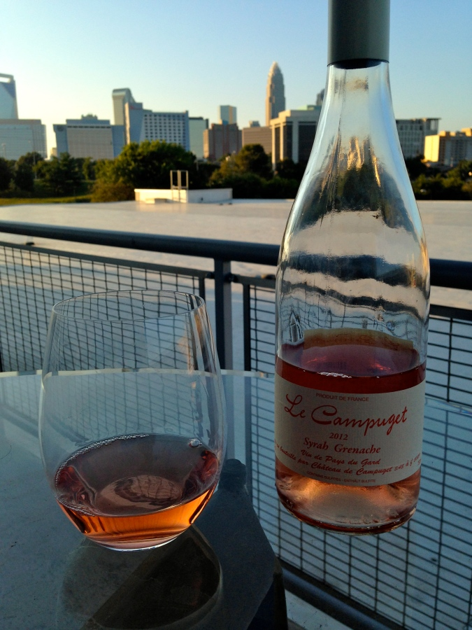 Rose wine Le Campuget