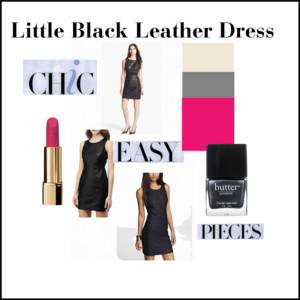 Little Black Leather Dress