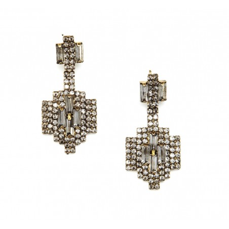 Sole society art deco drop earring