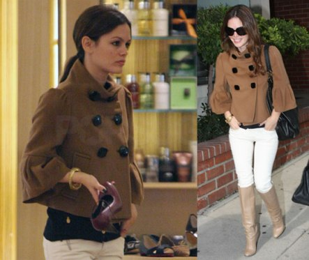 Rachel Bilson white denim