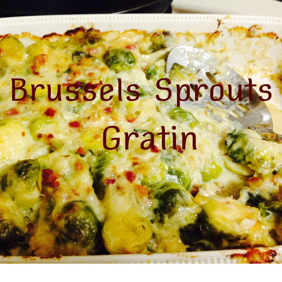 Cheesy Brussels SproutsGratin