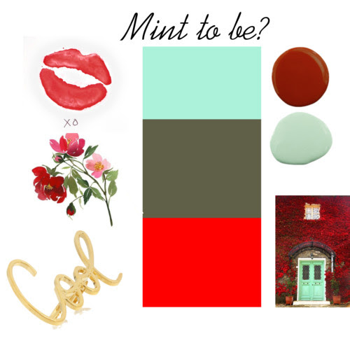 Mint, Red and Army Green