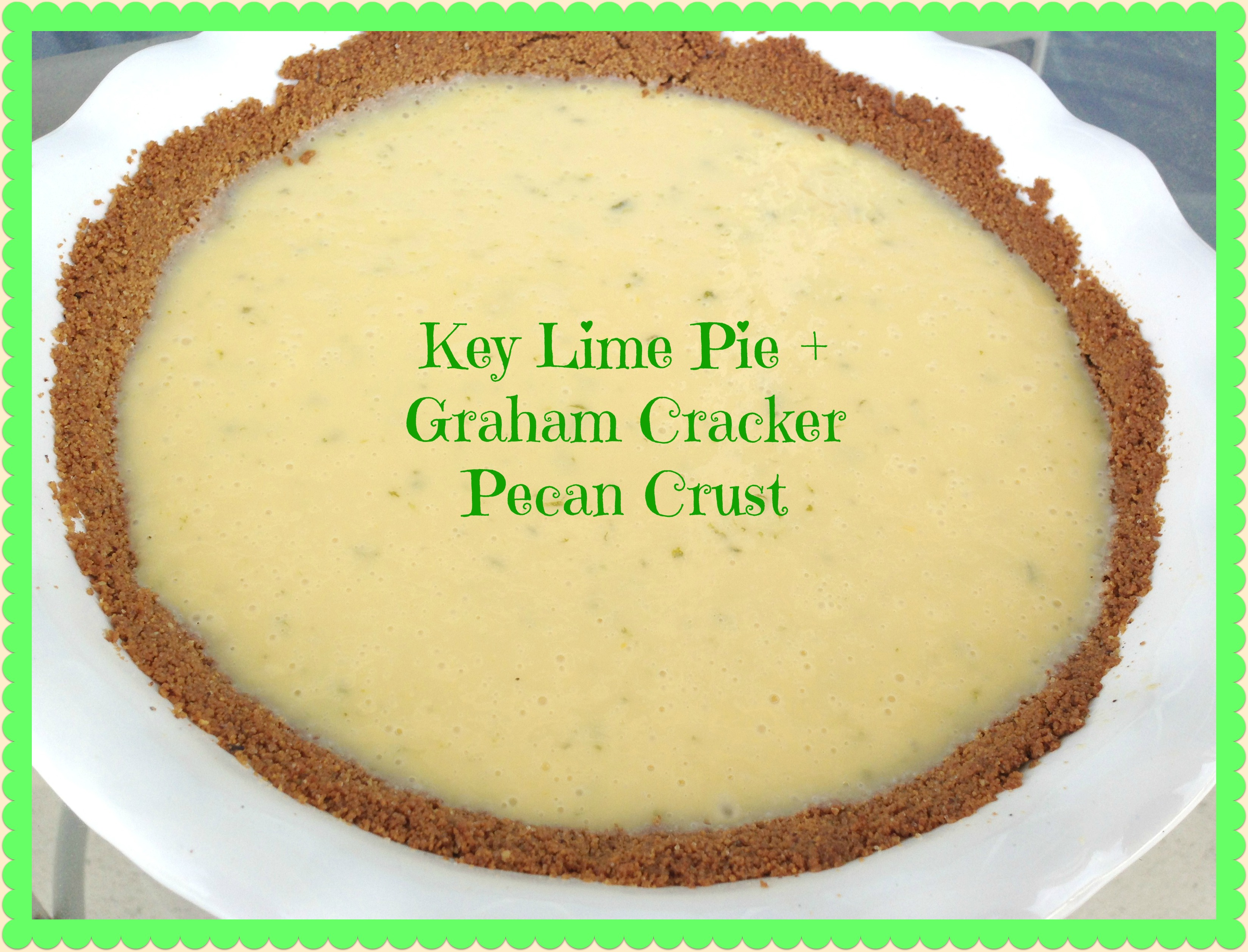 ... key lime pie you know with juice from actual key limes those suckers