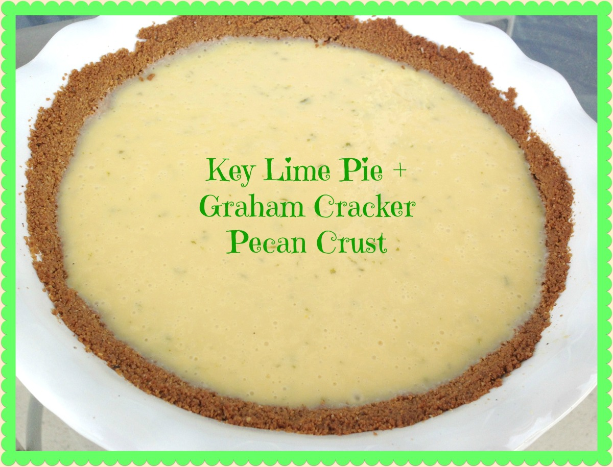 Key Lime Pie with Pecan and Graham Cracker Crust