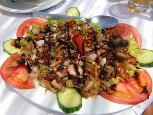 octopus salad, steki tou nikou, santorini