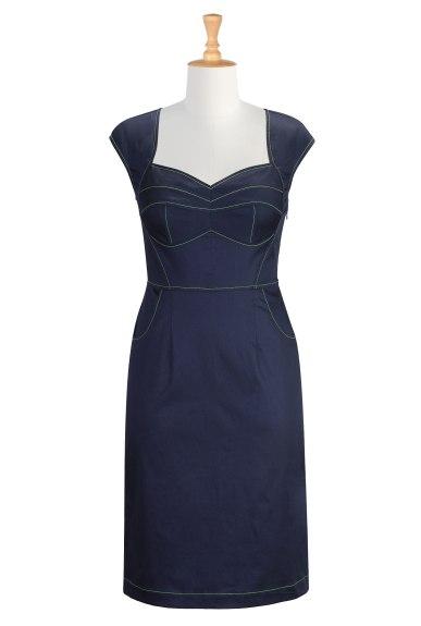 eShakti, Corset Style Stretch Dress, The Lady Olive