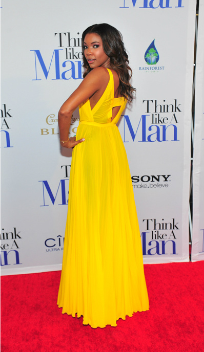 The Lady Olive, Gabrielle Union, yellow for every skin tone